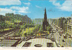 Scotland Edinburgh Princes Street Looking West