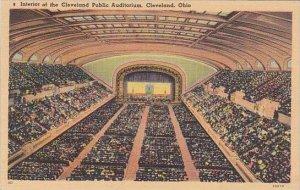 Ohio Cleveland Interior Of The Cleveland Public Auditorium