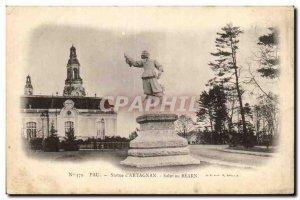 Old Postcard Statue of Pau & # 39Artagnan Hi to Bearn