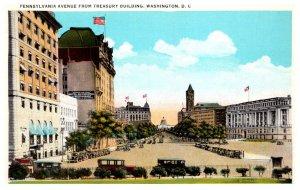 Washington D.C.  Pennsylvania Ave from Treasury Building