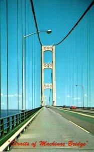 Michigan Straits Of Mackinac Bridge 1967