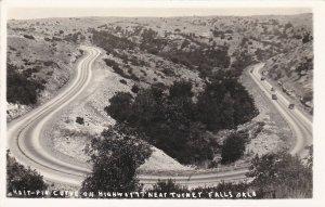 RP; Near TURNET FALLS, Oklahoma, 1930-50s; Hair-Pin Curve on Highway '77'
