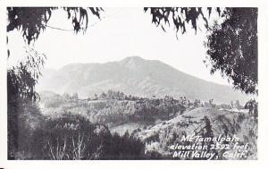 Mt. Tamalpais Elevation 2592 Feet  Mill Valley Real Photo