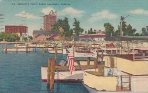 Florida Sarasota Yacht Basin 1956