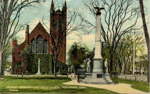 CT - New Haven - Soldiers' Monument & Christ Church