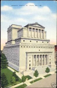 St. Louis, Mo., Freemasonry, Masonic Temple Lodge 1940s