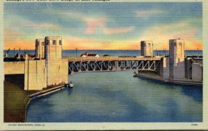 Illinois Chicago New Outer Drive Bridge On Lake Michigan