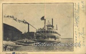 Steamer Quincy IL Postal Used Unknown