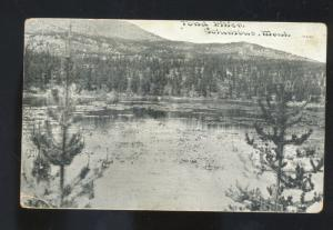 COLUMBUS MONTANA POND LAKE VINTAGE POSTCARD LUCCA NORTH DAKOTA SWANSON