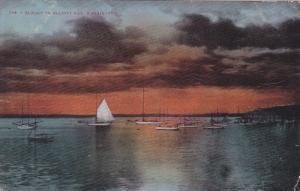 Sailboat, Sunset On Elliott Bay, Washington, PU-1910