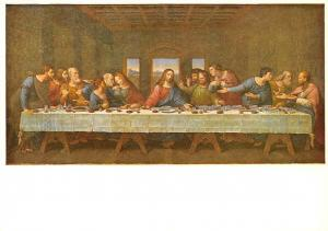 Leonardo da Vinci, Abendmahl La Sainte Cene The Last Supper Postcard