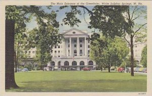 West Virginia White Sulphur Springs The Greenbrier The Main Entrance