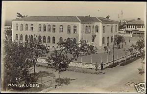turkey, MANISA LISESI, Magnesia, School (1920s) RPPC