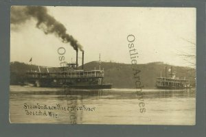 Boscobel WISCONSIN RP c1910 STEAMBOAT GRAND Steamers Steamboats RAPIDS River