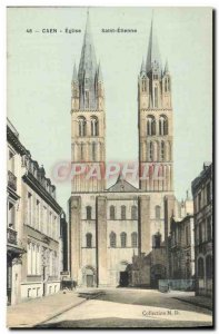 Postcard Old Church St. Etienne Caen
