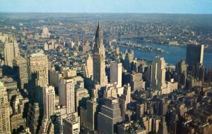 NY - New York City, View Looking Northeast from Empire State Building, 1950's
