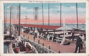 New Jersey Atlantic City View At The Inlet 1929