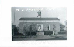 East Palestine, Ohio, Post Office, RPPC, Exterior
