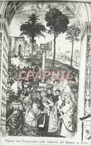 Postcard Old Dipino Del Pinturicehio Nella Libreria del Duomo in Siena