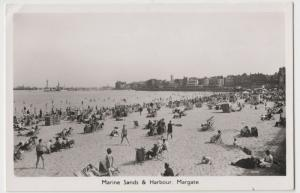 Kent; Marine Sands & Harbour, Margate RP PPC By AH&S, Unposted
