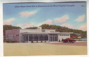 P497 JLs vintage glass house snack bar w. virginia turnpike w/old cars