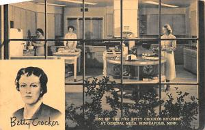 Advertising Post Card Betty Crocke Kitchens at General Mills Minneapolis, Min...