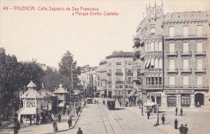 VALENCIA , Spain , 00-10s ; Calle Sagrario de San Francisco y Parque Emillo C...