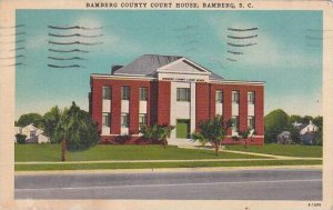 South Carolina Bamberg Bamberg County Court House 1956