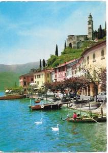 Morcote, Switzerland. Beautiful view of Lake of Lugano 1967