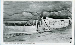 KY - Mammoth Cave, Salt Petre Vats, 1812-1814