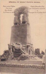 Belgium Brussels Memorial du Soldat Francais Inconnu 1927