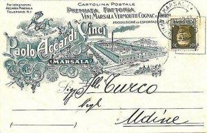 09556 - CARTOLINA d'Epoca TRAPANI: MARSALA - PUBBLICITARIA VINO