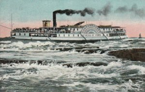 MONTREAL , Quebec , 1900-10s; Steamer Duchess of York, Lachine Rapids, TUCK