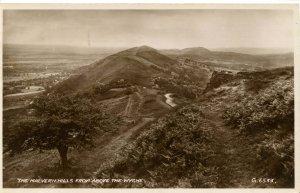 UK - England, Malvern Hills above the Wyche.    RPPC