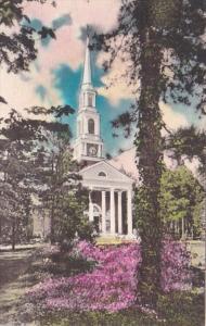 North Carolina Pinehurst The Village Chapel 1940 Handcolored Albertype