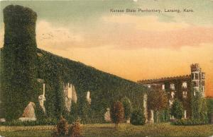 Lansing~Kansas State Penitentiary~Ivy Covered Prison Walls~Towers~1910 Postcard
