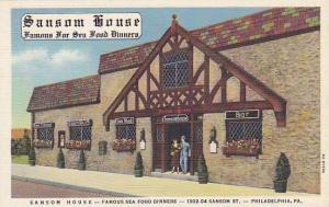 The Sansom House, Famous Sea Food Dinners, Philadelphia, Pennsylvania, 30-40s