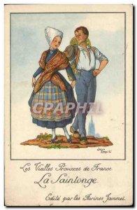 Old Postcard Folklore Saintonge Flour Jammet