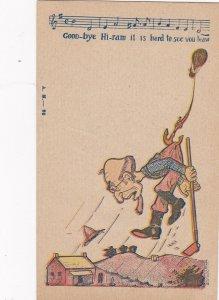 COMIC, 1900-10s; Man Caught By Balloon