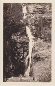 RPPC Silver Cascade Waterfalls Crawford Notch White Mountains NH New Hampshire