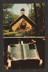MA Log Cabin Chapel & Bible GROTONWOOD MASSACHUSETTS PC