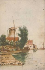 Windmill, Uitg, L. Diefenthal, Antwerpen, Antwerp, Belgium, 10-20s