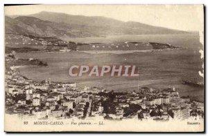 Old Postcard Monte Carlo Vue Generale