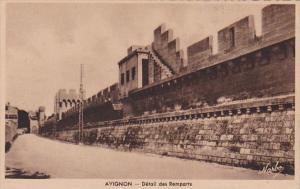 France Avignon Detail des Remparts