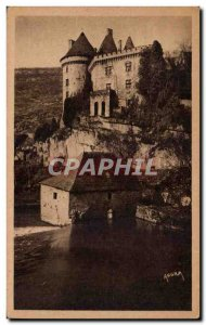 Cabrerets - Le Chateau and Mill - Old Postcard