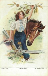 Chestnutting Lady With Horse 04.79