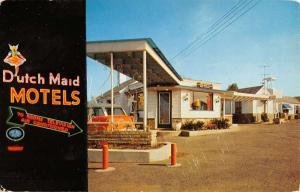 Woodbridge New Jersey Dutch Maid Motels Street View Vintage Postcard K37384