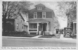 Mrs Thomas Jones Tourist Home Niagara Falls Ontario Canada 1930s postcard