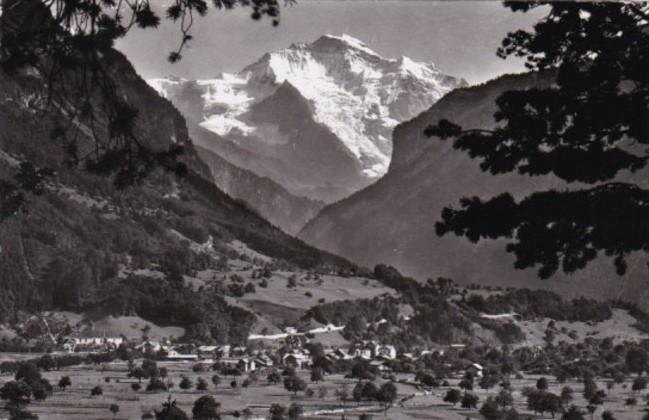Switzerland Interlaken Gsteig und Wilderswil Mit Jungfrau 1947 Real Photo