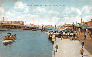 Scotland, UK Old Vintage Antique Post Card The Broomielaw, River Clyde Glasgo...